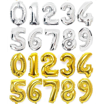 number balloons