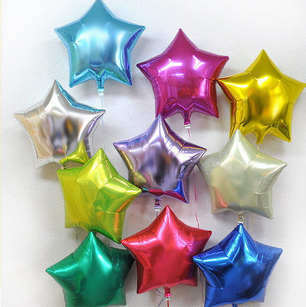 stars and hearts balloons
